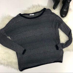 Vince Fine Knit Striped Sweater